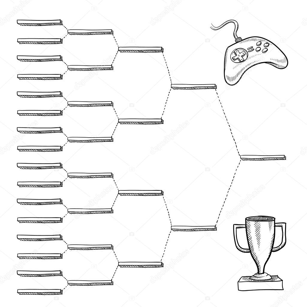 Blank video game tournament bracket — Stock Vector © lhfgraphics