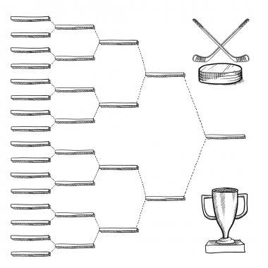 Blank hockey playoff pracket