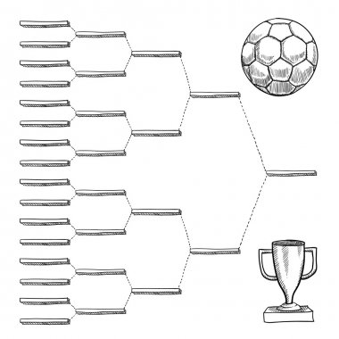 Blank international soccer playoff bracket