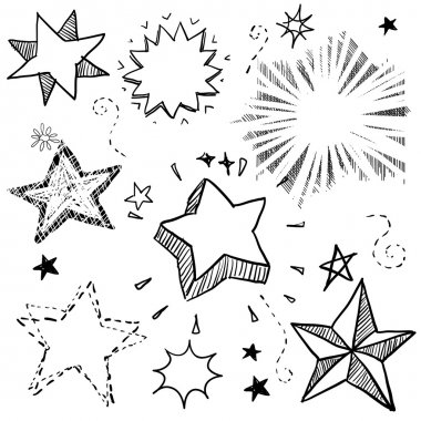Stars and explosions doodles