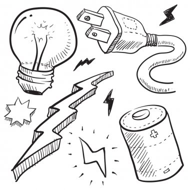 Electricity items sketch