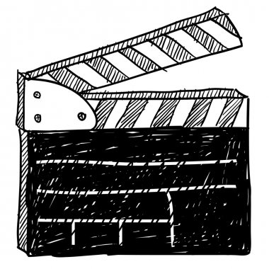 Film set clapperboard sketch