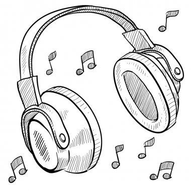 Music headphones sketch