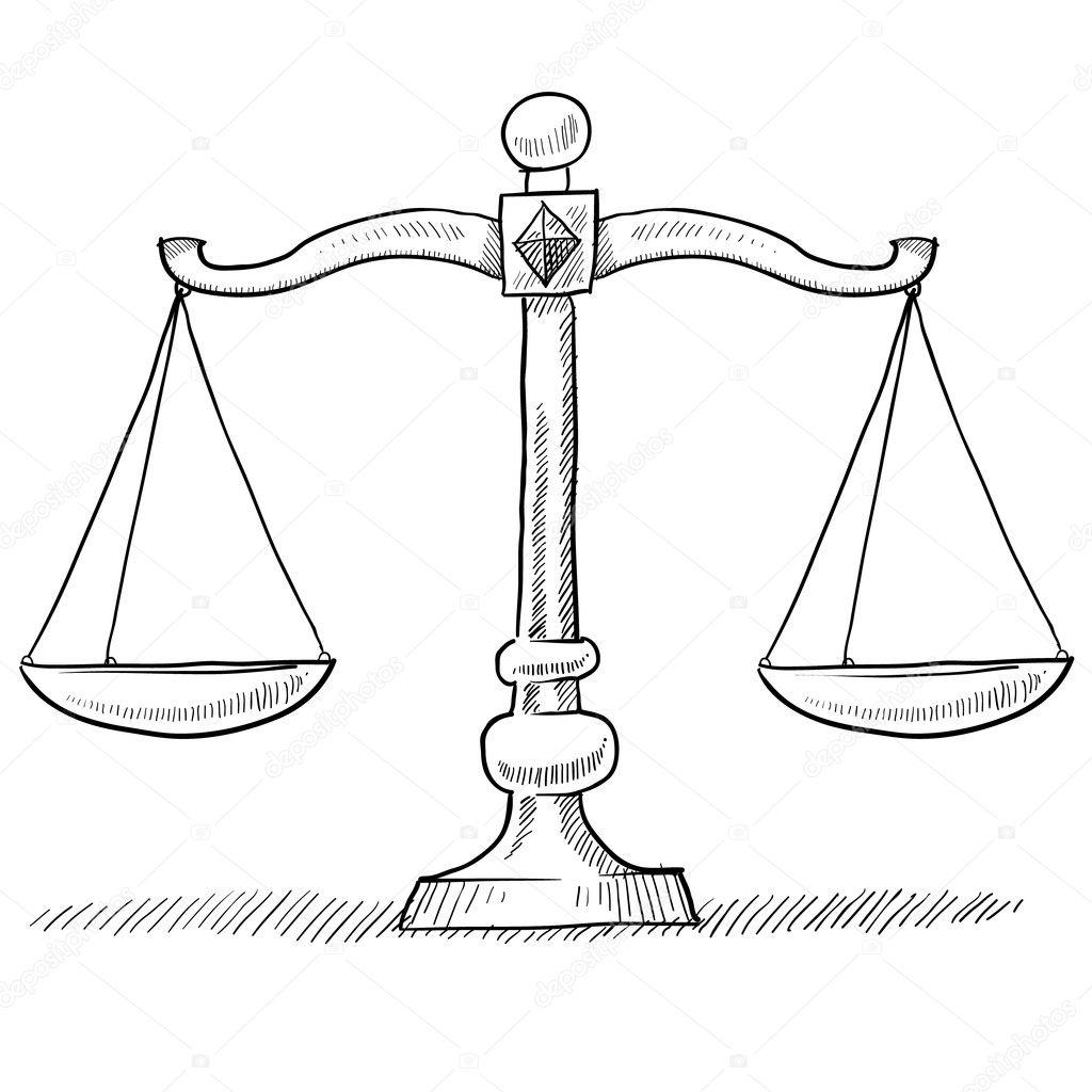 Imágenes Balanza De Derecho Para Colorear Escalas De Justicia