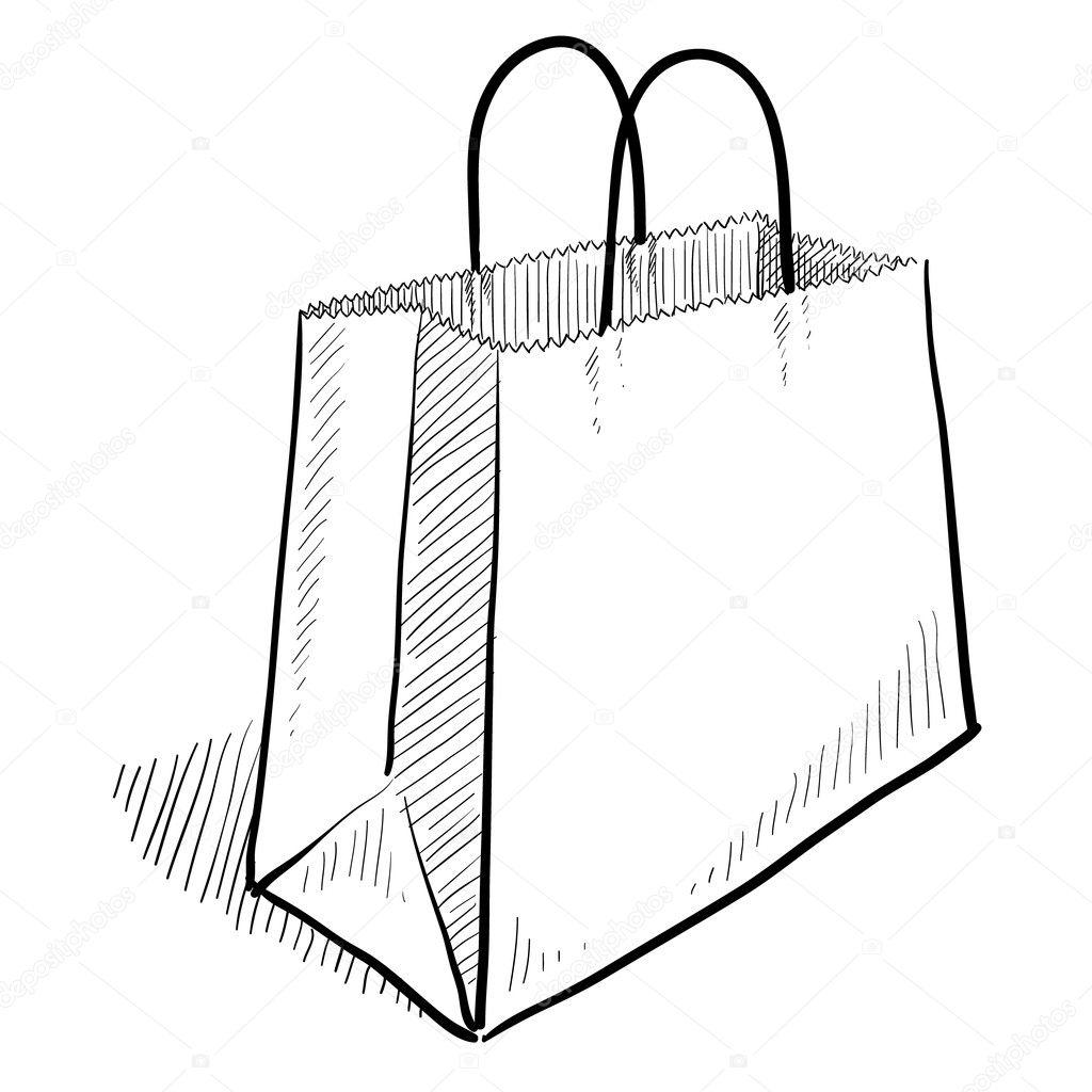 покупки рисунок карандашом большие