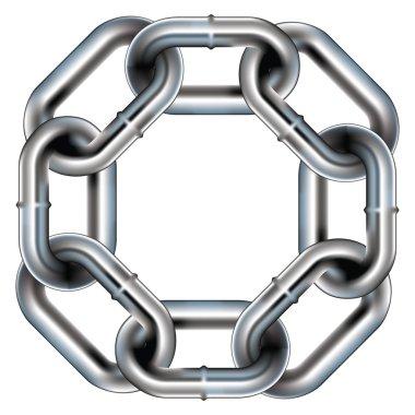 Seamless chain link vector border