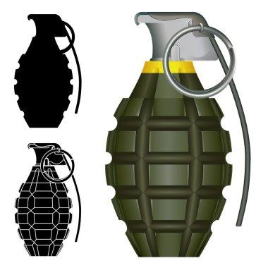Pineapple hand grenade vector illustration