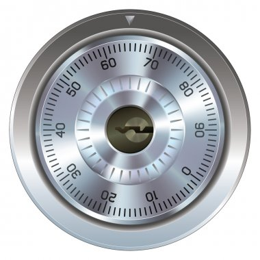 Combination lock with keyhole vector