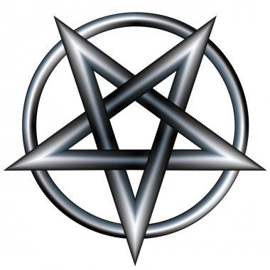 Metallic pentagram sketch