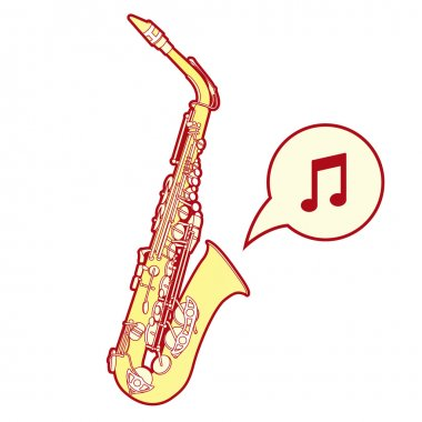 Stylized saxophone vector
