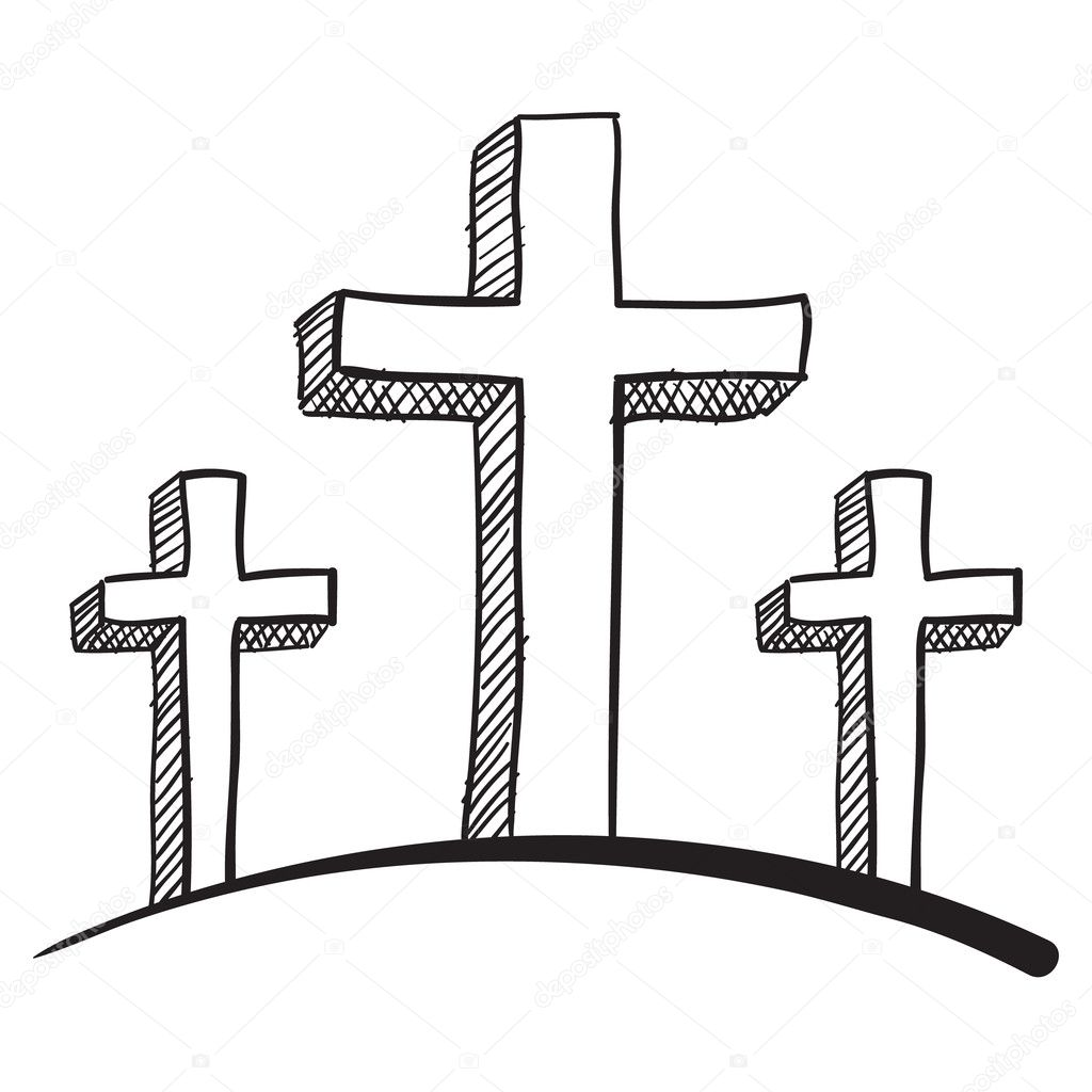 Three Crosses Coloring Pages