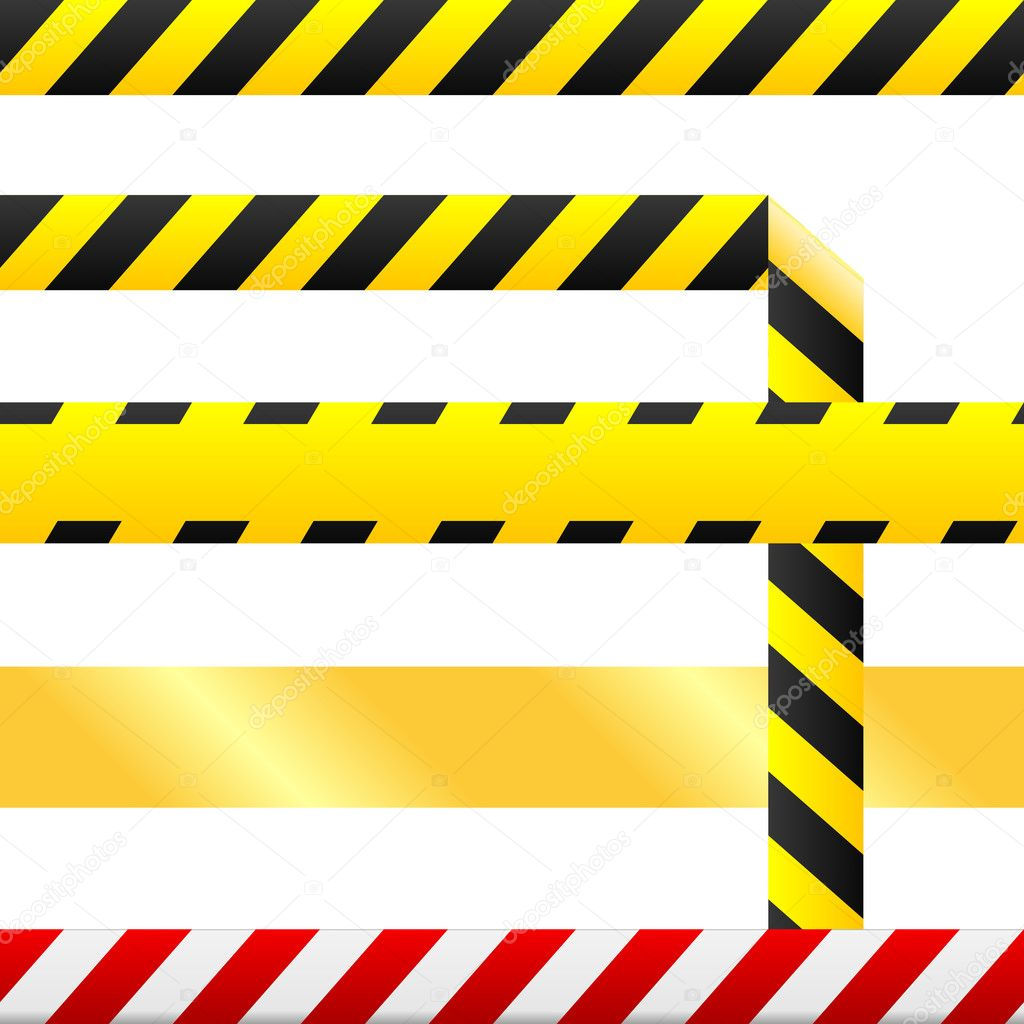 Blank caution tape vector