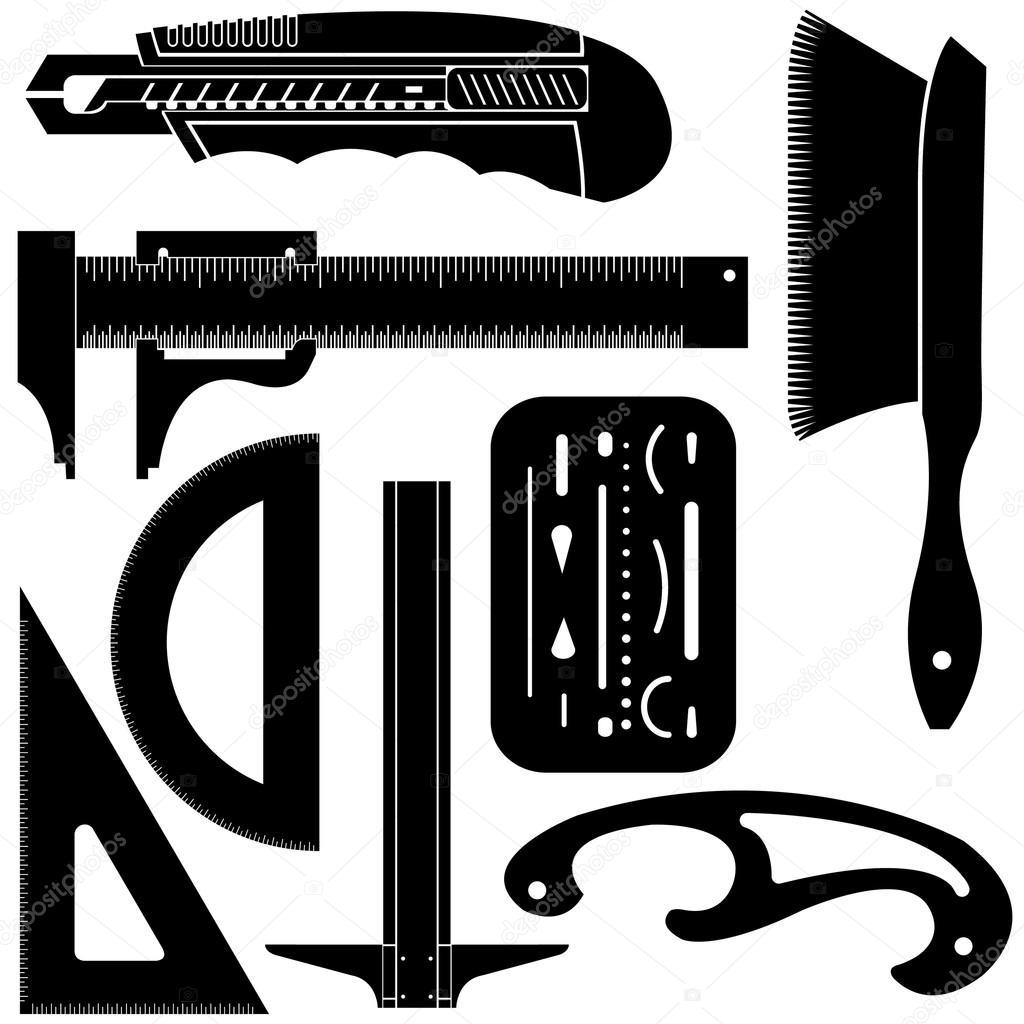 Drafting tools Stock Vectors, Royalty Free Drafting tools ...