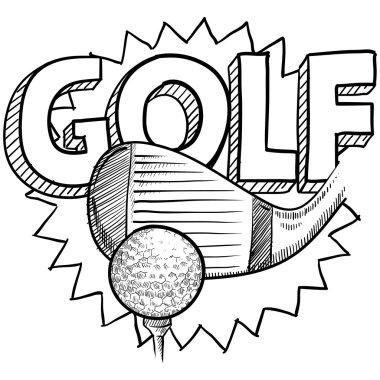 Golf sport sketch