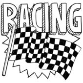 Car racing sketch