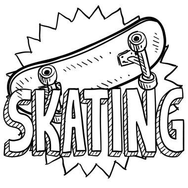 Skateboarding sketch