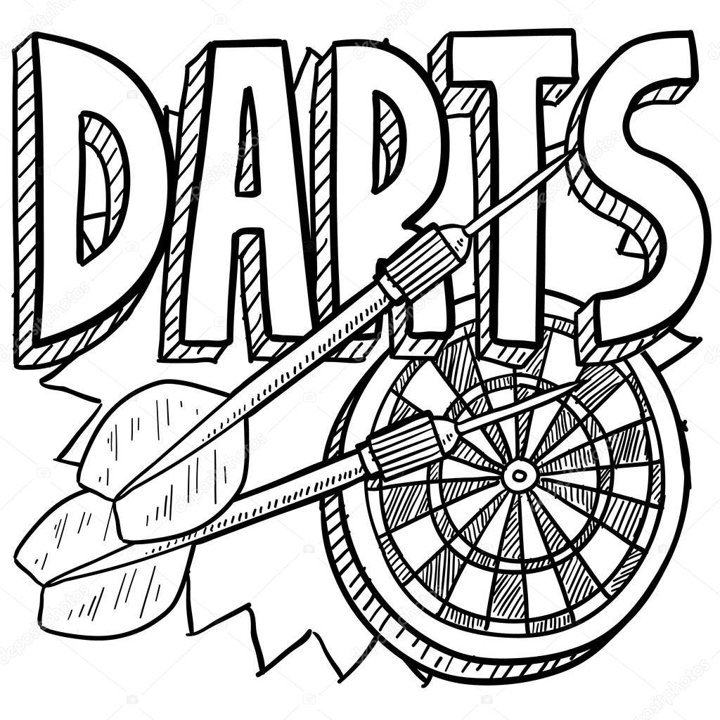 dart board coloring pages - photo#13