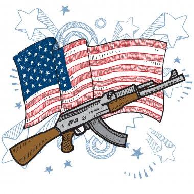 Americans love assault rifles sketch