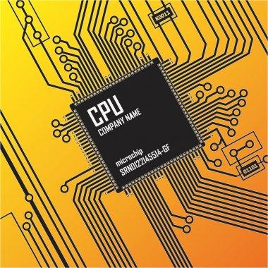 Circuit board background. Vector illustration.