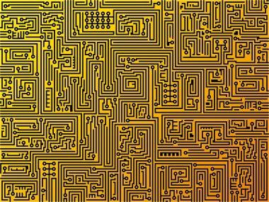 Circuit board background. Vector.