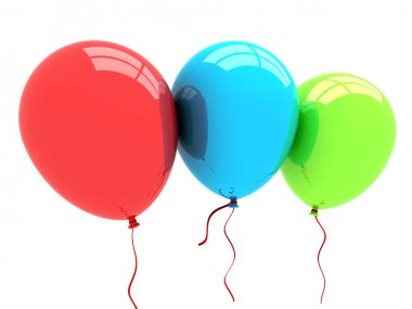 Party balloons background. 3d rendering.