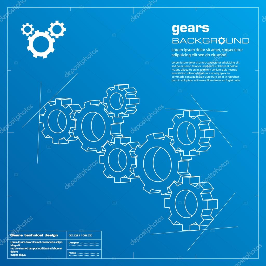 Gears blueprint background vector stock vector adistock 15840637 gears blueprint vector illustration technology teamwork solutionncepts vector by adistock malvernweather Image collections