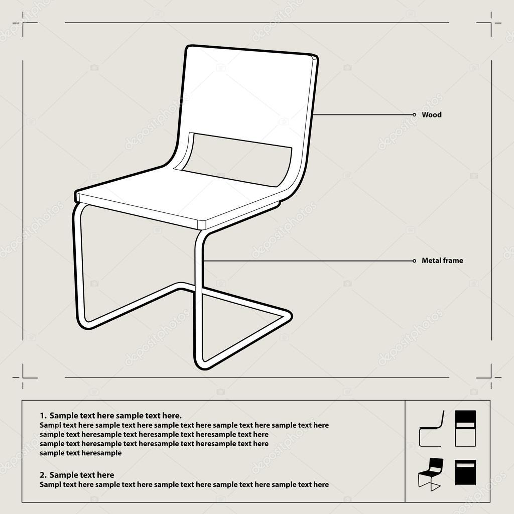 chair blueprint. vector. — stock vector © adistock #16495787