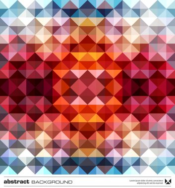 Abstract colorful triangles background. Vector.
