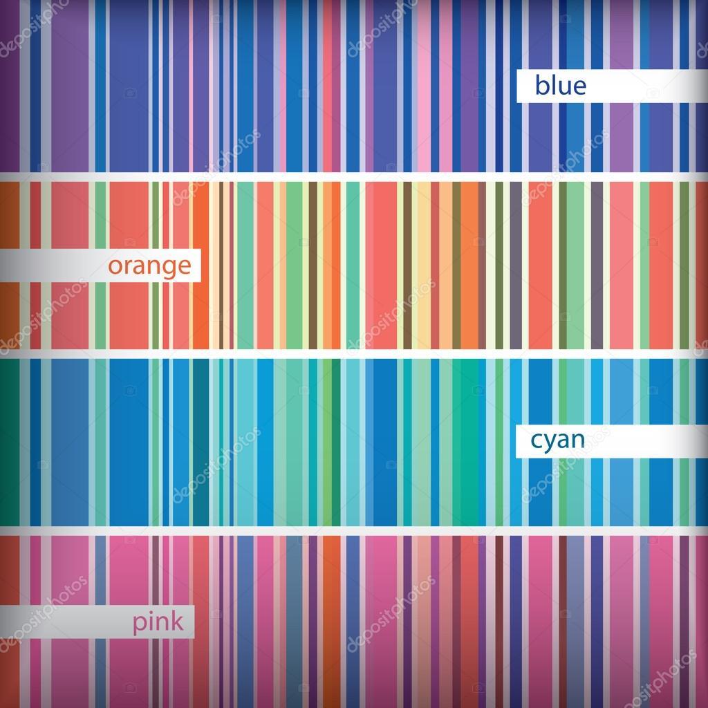 Seamles stripes pattern set. Vector.