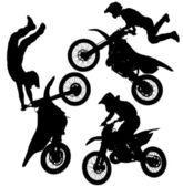 Fotografia sagoma salto motocross