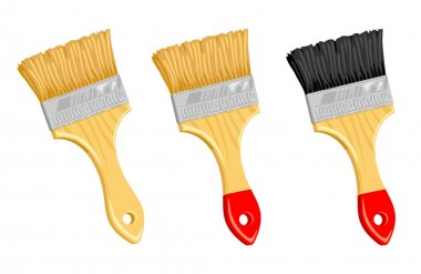 Clean paint brush.