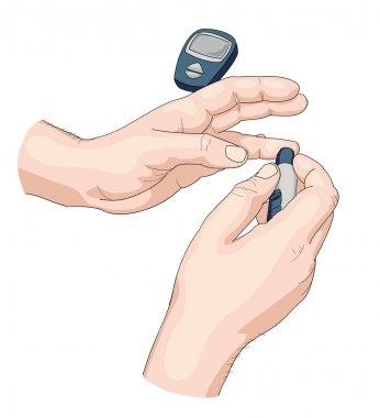 Blood test. Vector illustration. clip art vector