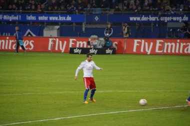 The player Rafael van der Vaart of the Hamburg Sport Club HSV