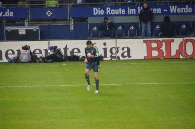 The player Rene Adler of the Hamburg Sport Club HSV