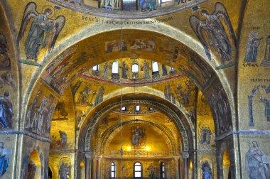 Interior of St Mark's in Venice, Italy.