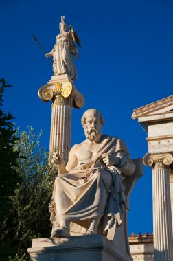 The statue of Plato. Athens, Greece.