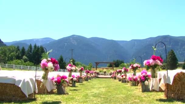 svatbu venku v horách