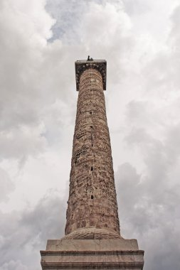 Column of Marcus Aurelius. Piazza Colonna in Rome, Italy.