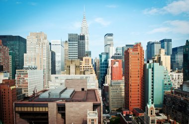 New York City Manhattan skyline view with Chrysler building