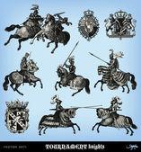 Gravírozás vintage lovagok pókerverseny set