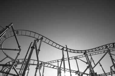 Roller-coaster in the Coney Island Astroland Amusement Park, USA
