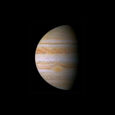 Jupiter image in dark space