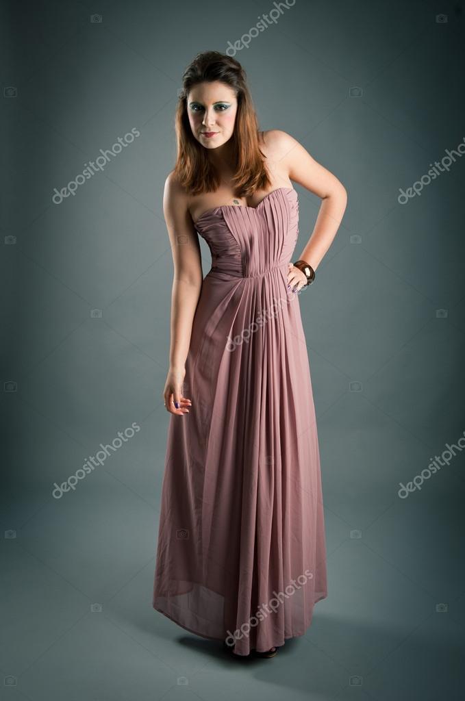 Imágenes Vestidos Palo Rosa Retrato De Una Chica Hermosa