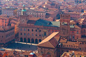Photo Panoramic view of the roofs of Bologna. Main square