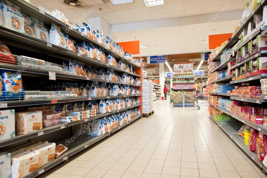 BOLOGNA, ITALY - FEBRUARY 4: Coop Supermarket, February 4, 2012 ...