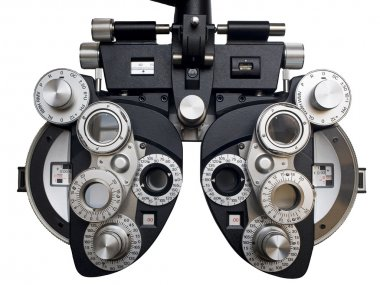 Optometrist diopter. White background