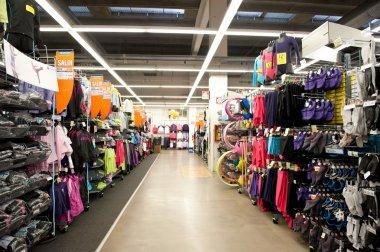 BOLOGNA, ITALY - FEBRUARY 4: Decathlon Sport Store, February 4,