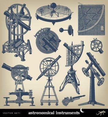 Engraving astronomical instrument set
