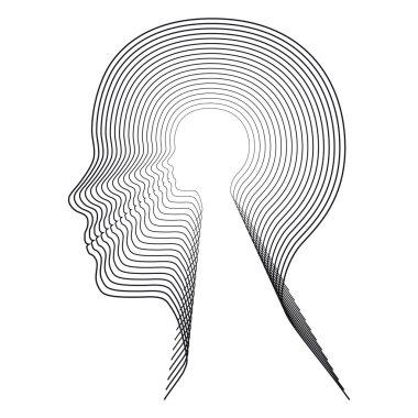 Concentric head. Conceptual image