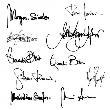 Set of imaginary signature
